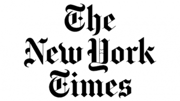 The logo of The New York Times