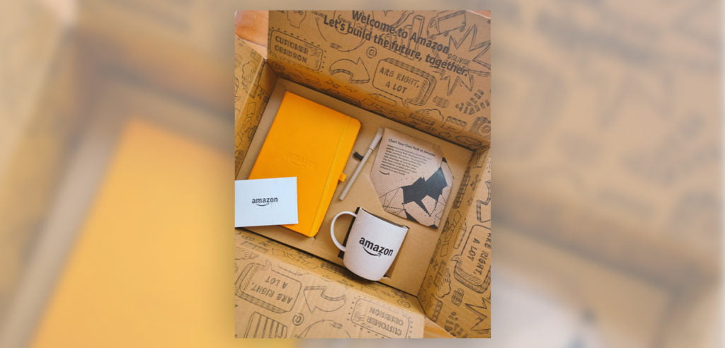 Amazon's welcome gift given to their summer interns