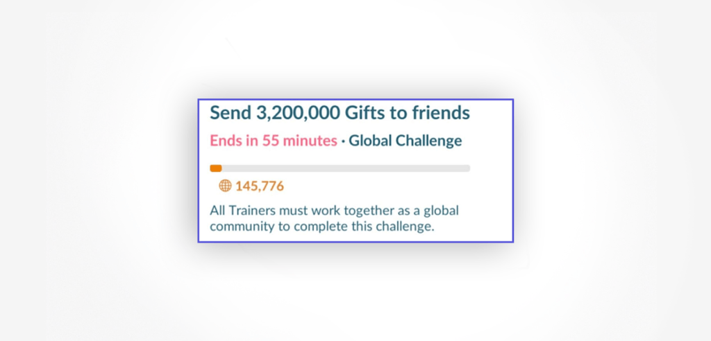 Global challenges with time limit are great way to focus players on single common task, and create the sense of belonging