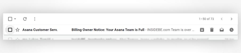 Asana's reminder email